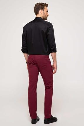 Pierre Cardin Erkek Bordo Slim Fit Chino Pantolon 2