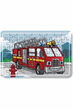 Baskı Atölyesi Çimento Arabası, Itfaiye, Arabalar 54 Parça Ahşap Puzzle 2