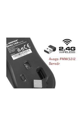 Rampage Smx-r20 Specter Kablosuz Siyah Gökkuşağı Renk Ledli Şarjlı Gaming Oyuncu Mouse 2
