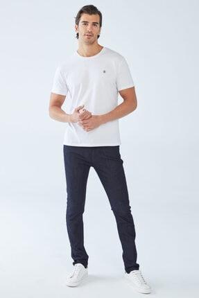 Boris Becker Erkek Beyaz Baskılı Basic T-shirt 1