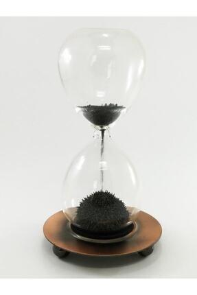 SUME Metal Manyetik Standlı Mıknatıslı Cam Kum Saati 2