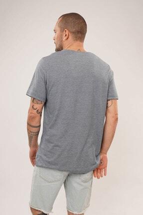 Carlamia Erkek Mavi Bisiklet Yaka T-shirt 2