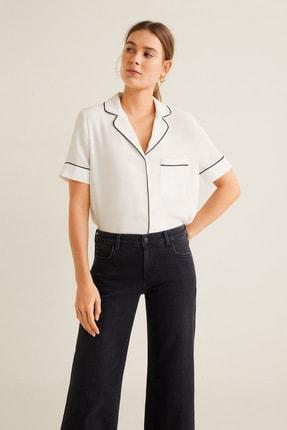 Mango Kadın Kırık Beyaz Bluz 43027720 1