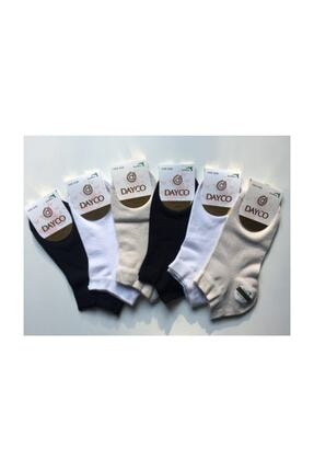 DAYCO Kadın Renkli 6'lı Patik Çorap 0