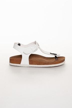 meyra'nın ayakkabıları Kadın Beyaz Klasik Sandalet 1