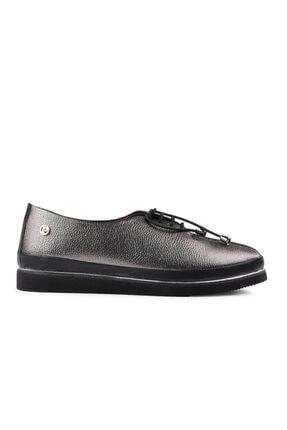 Pierre Cardin Kadın Platin Bağcıklı Günlük Ayakkabı 0