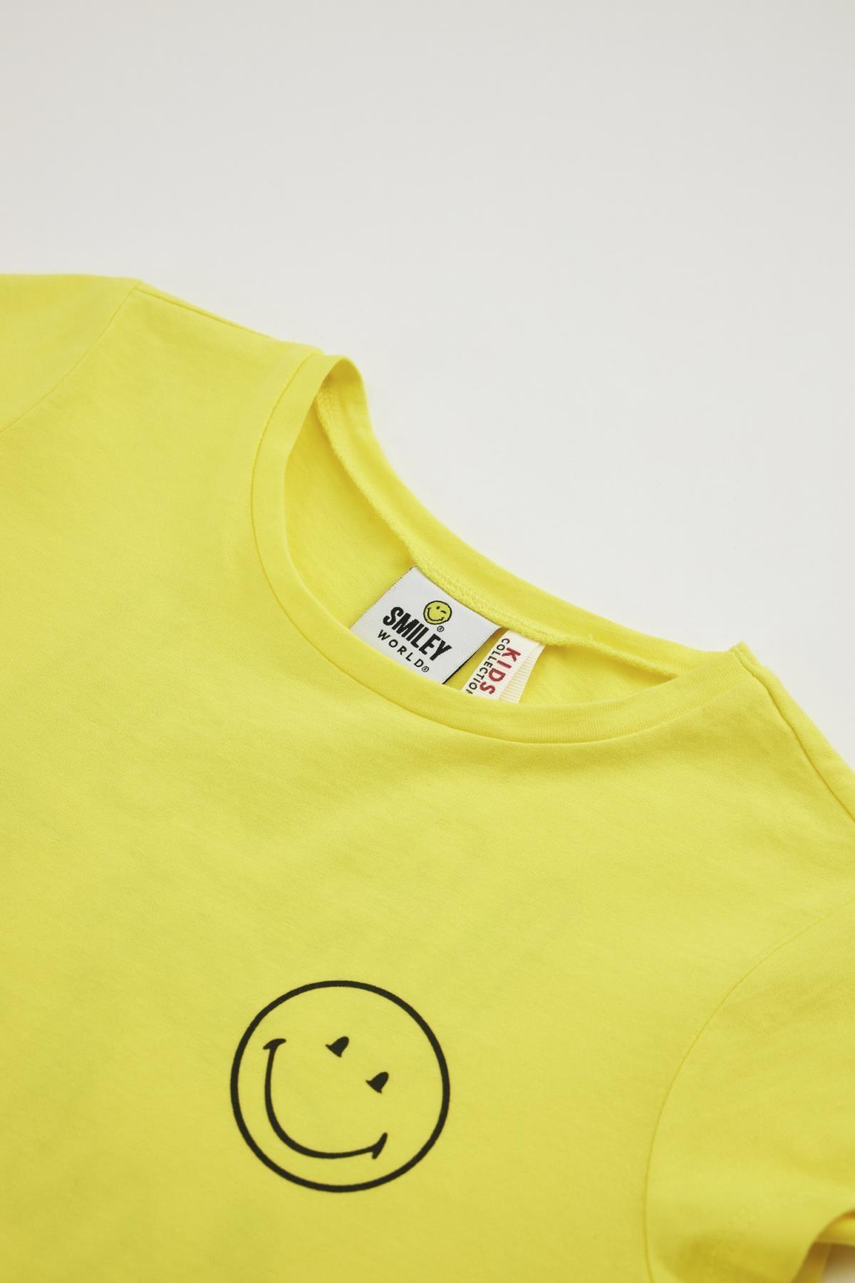 Defacto Kız Çocuk Smileyworld Lisanslı Kısa Kol Tişört 2