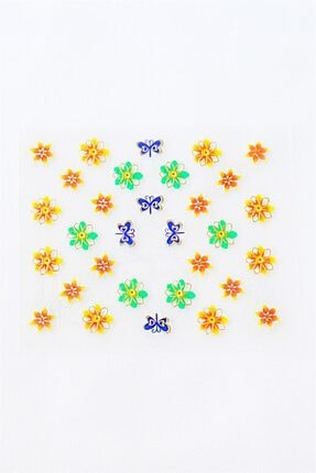 Takıştır Çiçek Figürlü Tırnak Dövmesi 1