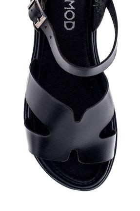 Derimod Kadın Siyah Deri Sandalet 4