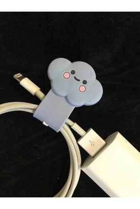 SUPPO Sevimli Silikon Kablo Toparlayıcı Mavi Bulut 1