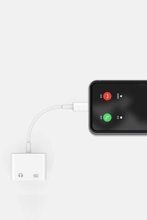 KLASİST Iphone Lightning 2in1 Hızlı Şarj + Kulaklık Dönüştürücü Çift Taraf Lightning 2