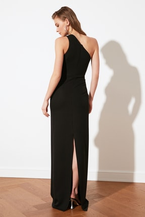 TRENDYOLMİLLA Siyah Yaka Detaylı Abiye & Mezuniyet Elbisesi TPRSS21AE0066 4