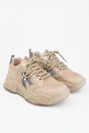 Marjin Kadın Bej Sneaker Dolgu Topuk Spor Ayakkabı Aletta 2