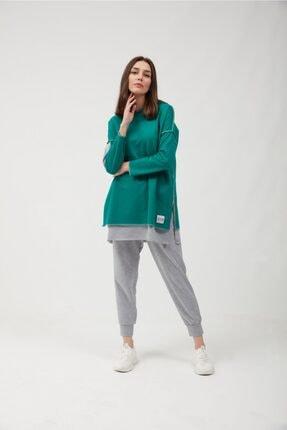 oia Yeşil Pamuklu Tunik Pantolon Takım Eşofman Takım 0