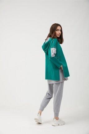 oia Yeşil Pamuklu Tunik Pantolon Takım Eşofman Takım 2