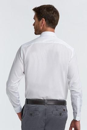 Hemington Erkek Beyaz Kuş Gözü Dokulu Non-ıron Business Gömlek 2