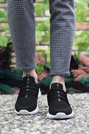Riccon Siyah Beyaz Erkek Sneaker 0012180 3