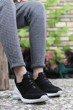 Riccon Siyah Beyaz Erkek Sneaker 0012180 4