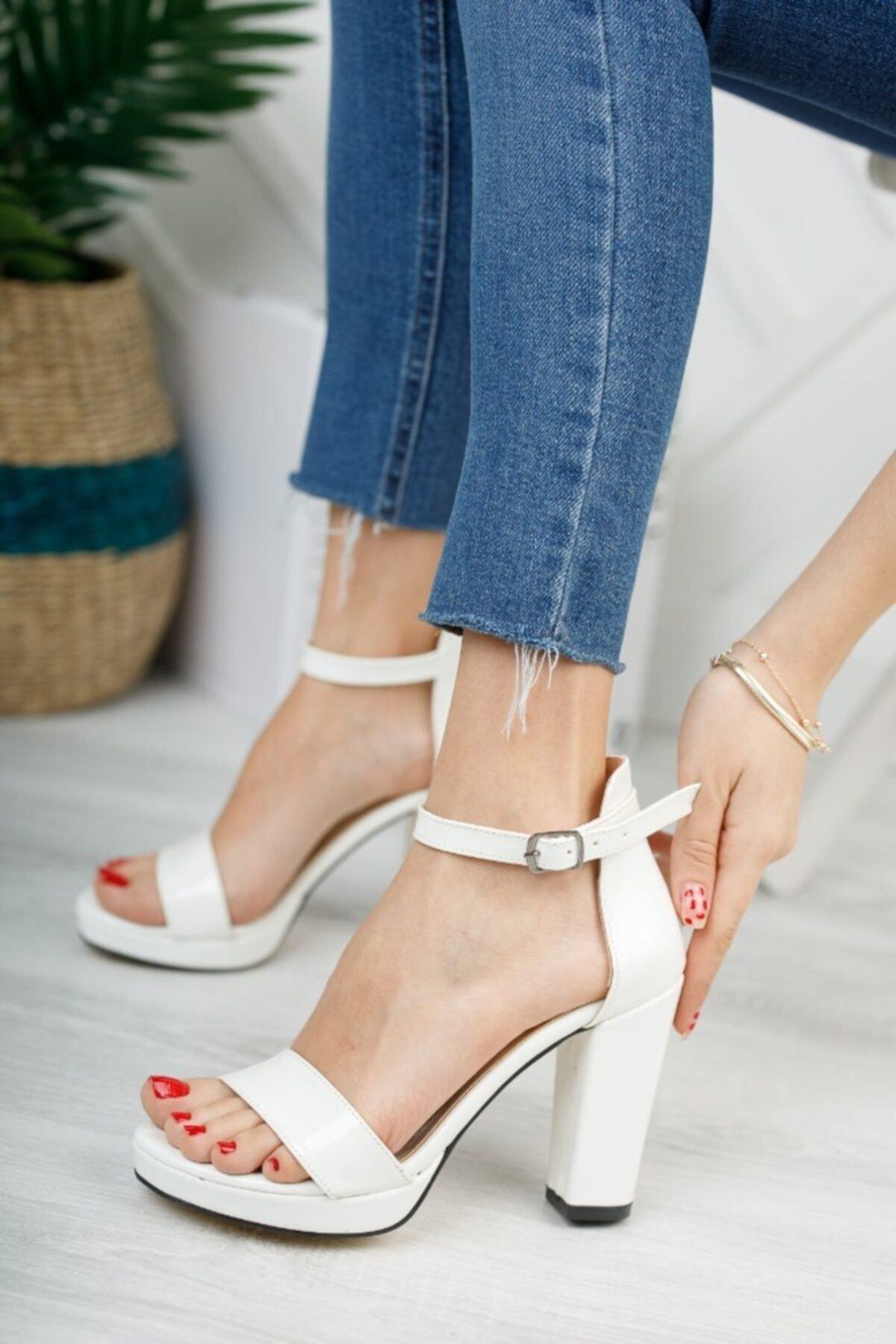 Kadın Beyaz Platform Ayakkabı