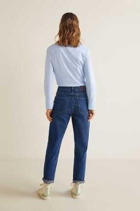 Mango Kadın Gök Mavisi Düğmeli Pamuklu Bluz 41013707 1