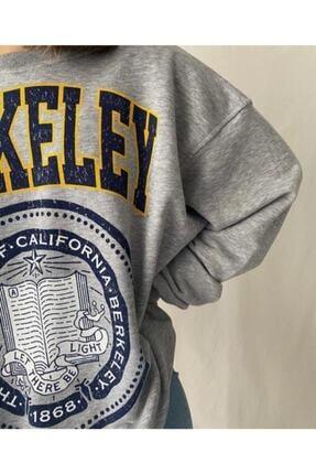 mekabutik Kadın Gri Berkeley Baskılı Seatshirt 3