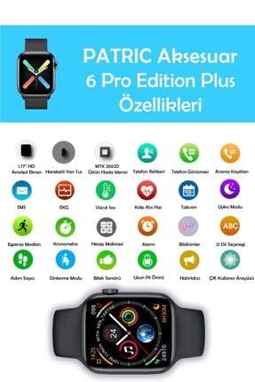 PATRİC Smartwatch 6 Pro Edition Plus - Yeni Versiyon Android Ve Ios Uyumlu Çelik Kordon Akıllı Saat 2