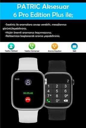 PATRİC Smartwatch 6 Pro Edition Plus - Yeni Versiyon Android Ve Ios Uyumlu Çelik Kordon Akıllı Saat 3