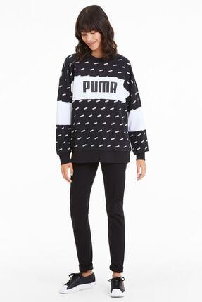 Puma Kadın Sudadera Crew Aop Logo Sweatshirt 2