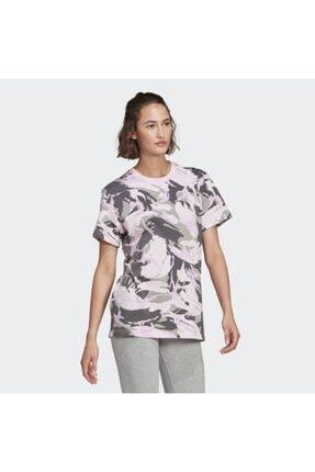 adidas Kadın Pembe Spor T-Shirt Gl7587 W Camo T 3