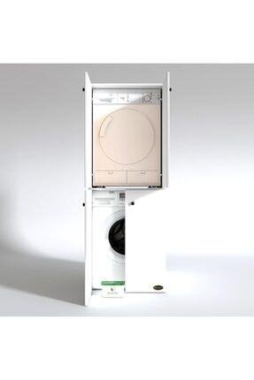 Kenzlife Çamaşır-kurutma Makinesi Dolabı Kapaklı Jelena Byz 180*70*60 Banyo Çift Katlı Ofis 1