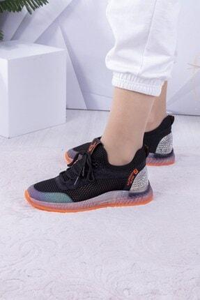 Guja Kadın Siyah Taşlı Fileli Spor Ayakkabı 2