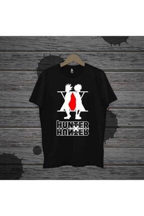 Touz Unisex Siyah Anime Hunter X Hunter Oversize Kalıp T Shirt 1