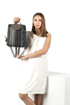 TH Bags Kadın / Kız Sırt Çantası Sırt Çizgili Kumaş - Th25300 0