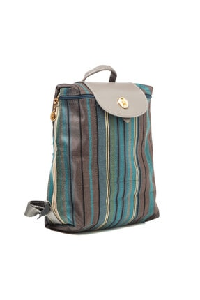 TH Bags Kadın / Kız Sırt Çantası Sırt Çizgili Kumaş - Th25300 4