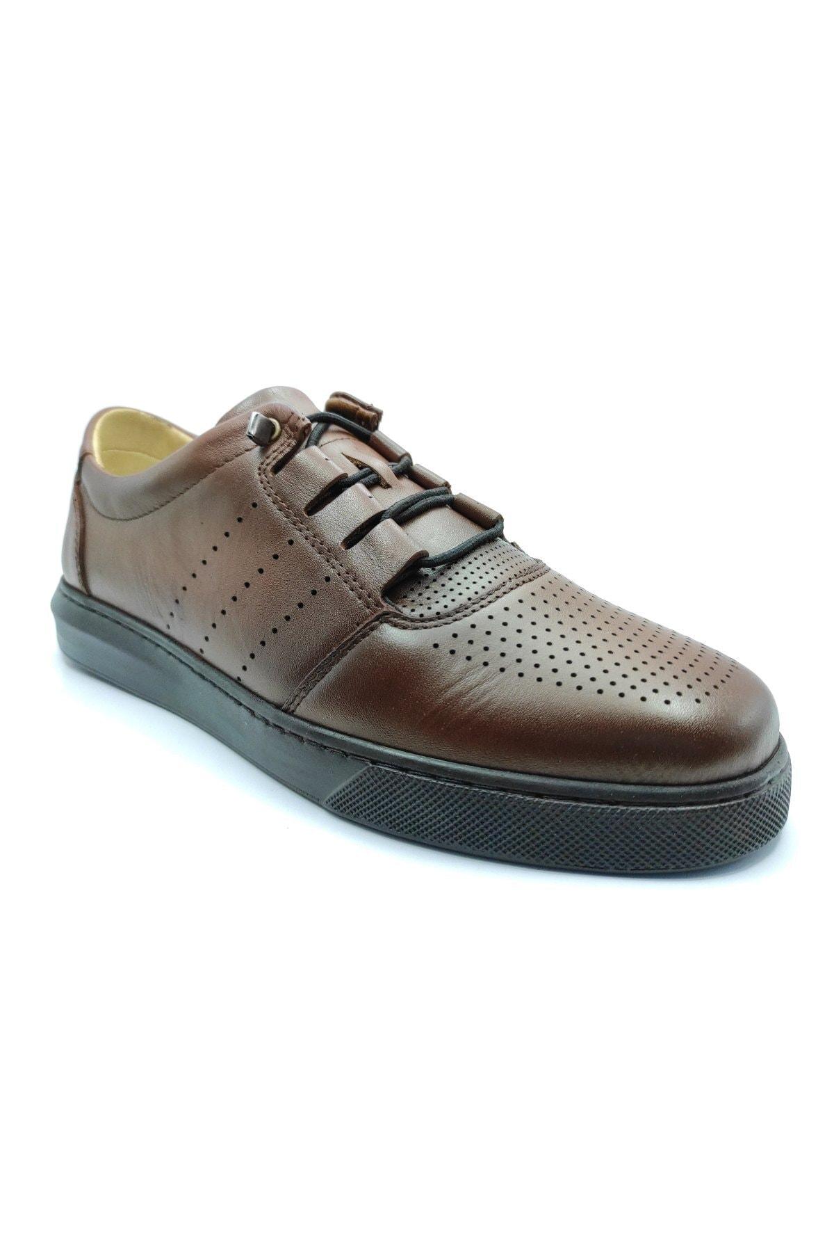 Erkek Taba Deri Günlük Ayakkabı
