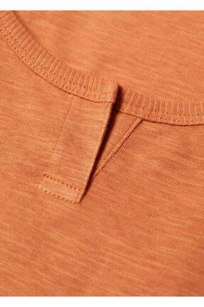 Mango Kadın Turuncu Kalın Askılı Bluz 4