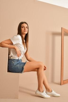 Picture of , Kadın Hakiki Deri Ayakkabı 111359 203 Beyaz