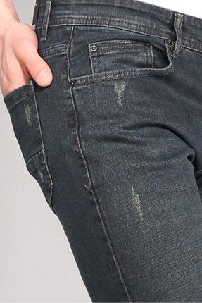 Delpino Erkek Gri Slimfit Likralı Kot Pantolon 2