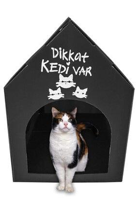 Pati Mama Desenli Plastik Kedi Evi Yuvası Kulübesi 0