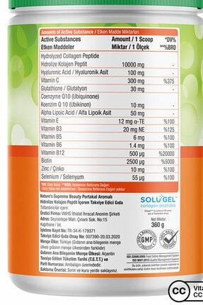 Natures Supreme Beauty Collagen Powder 360 gr - Portakal 2