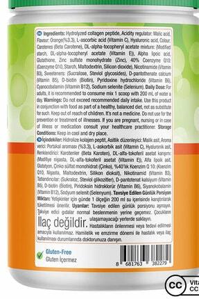 Natures Supreme Beauty Collagen Powder 360 gr - Portakal 3