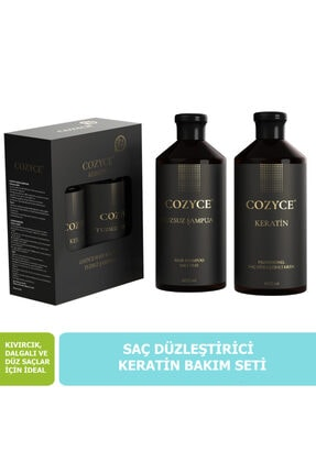 Cozyce Tuzsuz Şampuan 600 ml + Keratin Saç Bakımı 600 ml Brezilya Fönü Keratini 2'li Set 0