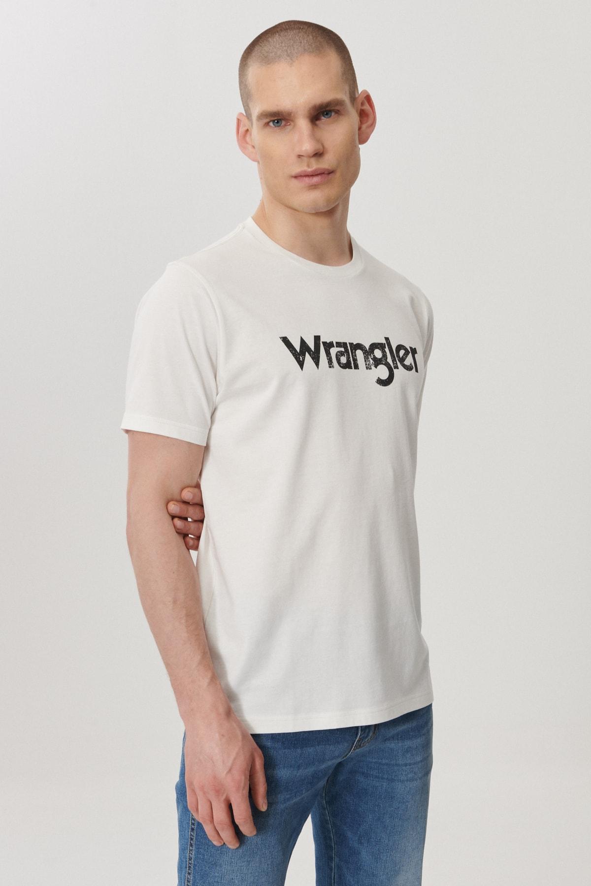 Wrangler Regular Fit Bol Kesim Sıfır Yaka %100 Koton Logolu Tişört 3
