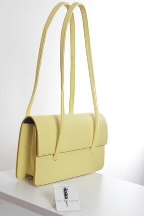 Loventa Loxxa Iki Saplı Sarı Kadın Baguette Çanta 0