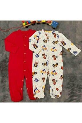 PİEROSBABY Pieros Baby 0062 Erkek Bebek 2'li Tulum 0