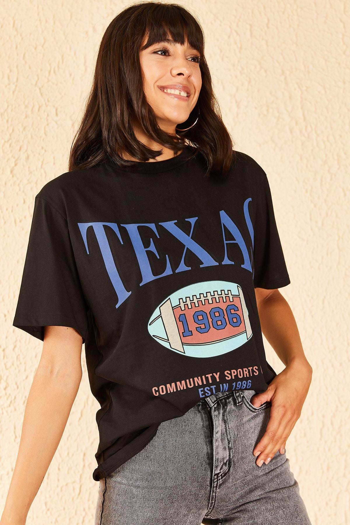 Kadın Texas Baskılı Tshirt
