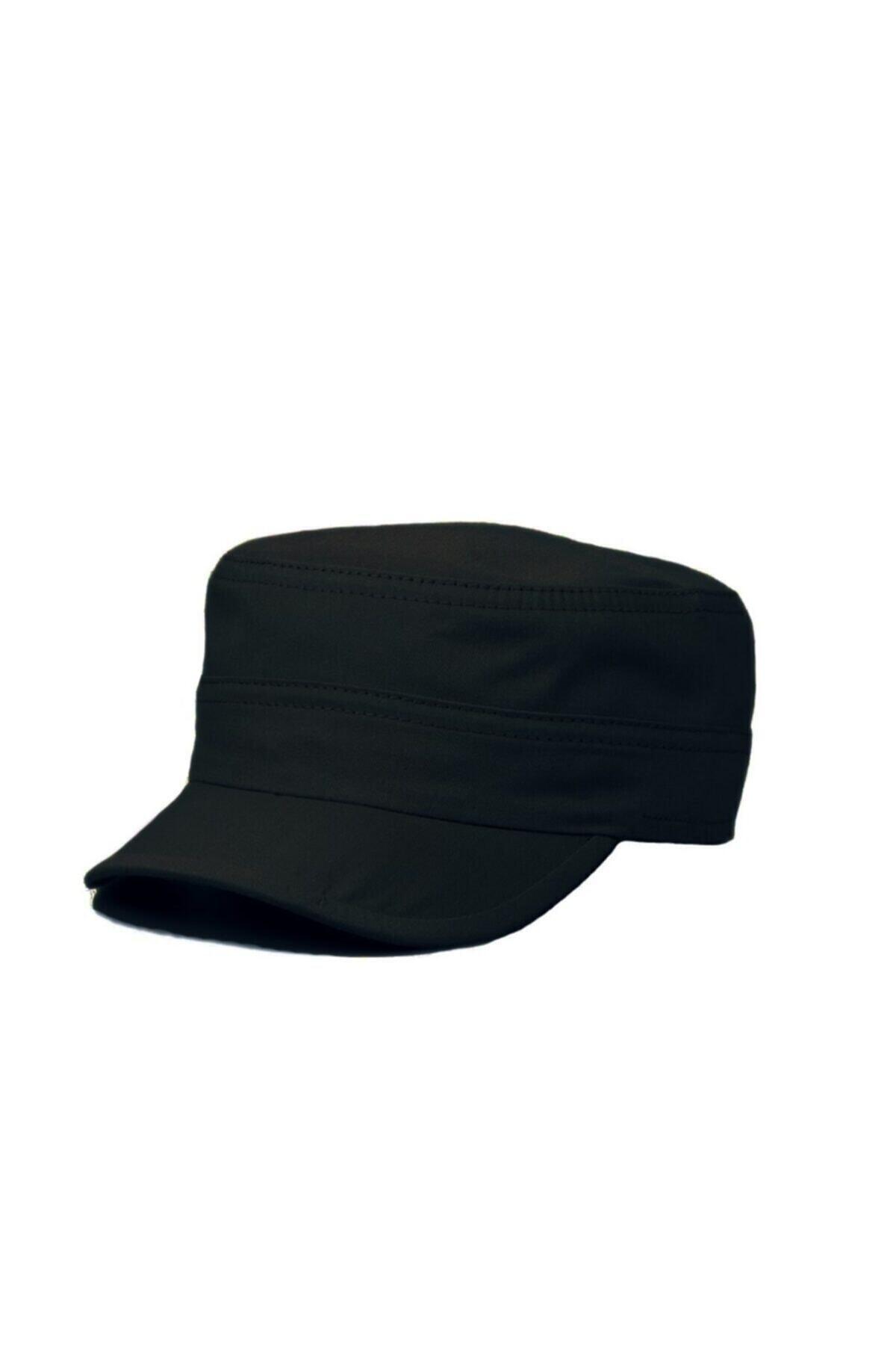 Siyah Castro Askeri Model Cap Şapka