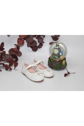 Picture of Bebe Kız Çocuk Fiyonklu Cırtlı Beyaz Günlük-abiye Babet