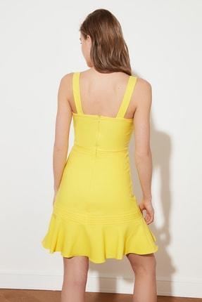 TRENDYOLMİLLA Sarı Askılı Elbise TWOSS20EL2504 3