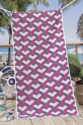 Nilly Home 3d Ipliği Boyalı Plaj Havlusu Mare - 70*145 Fuşya 0